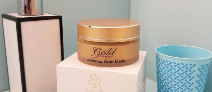 אס. אר קוסמטיקס משיקה   - HOLLYWOOD GOLD MASK טיפול יוקרתי התורם למניעת סימני הזדקנות עורית ומכיל את מינרל הזהב