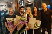 """והזוכים בפרויקט """"דלת בחתימה אישית"""" של חברת רשפים - האדריכלית דנה אוברזון ומעצבי הפנים אורלי דקטר וארז חייט"""